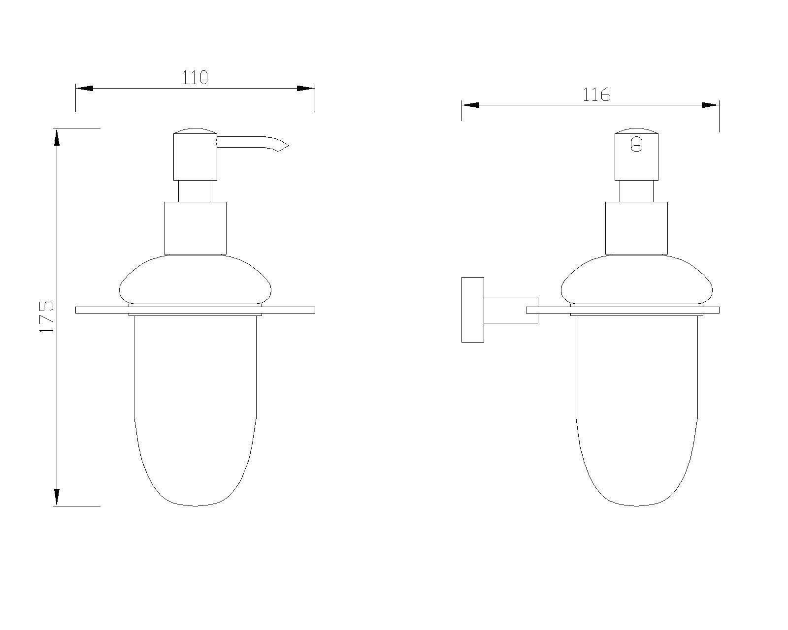 CR-Serie Wandhalterung mit Seifenspender