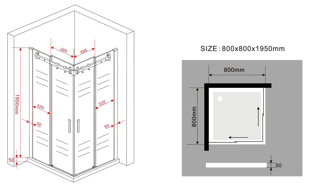 duschkabine area glas schiebet r dusche duschwand. Black Bedroom Furniture Sets. Home Design Ideas