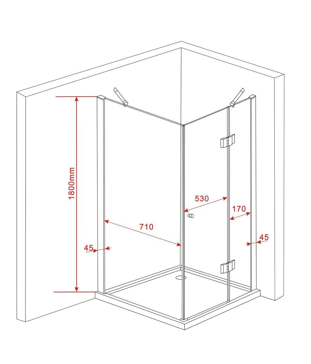 duschkabine arto 80 x 80 x 180 cm ohne duschtasse alphabad. Black Bedroom Furniture Sets. Home Design Ideas