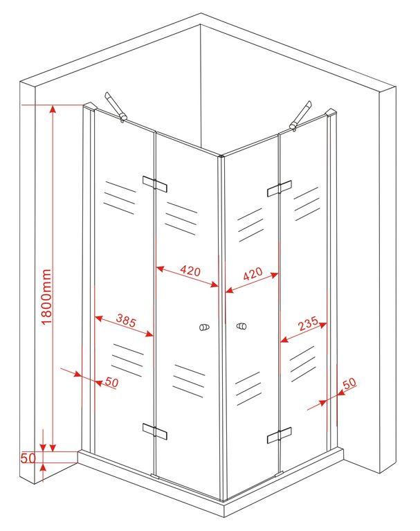 cant 90 x 75 x 180 glas dusche duschkabine duschwand duschabtrennung eckeinstieg ebay. Black Bedroom Furniture Sets. Home Design Ideas