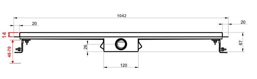 befliesbare Edelstahl-Duschrinne 100 cm