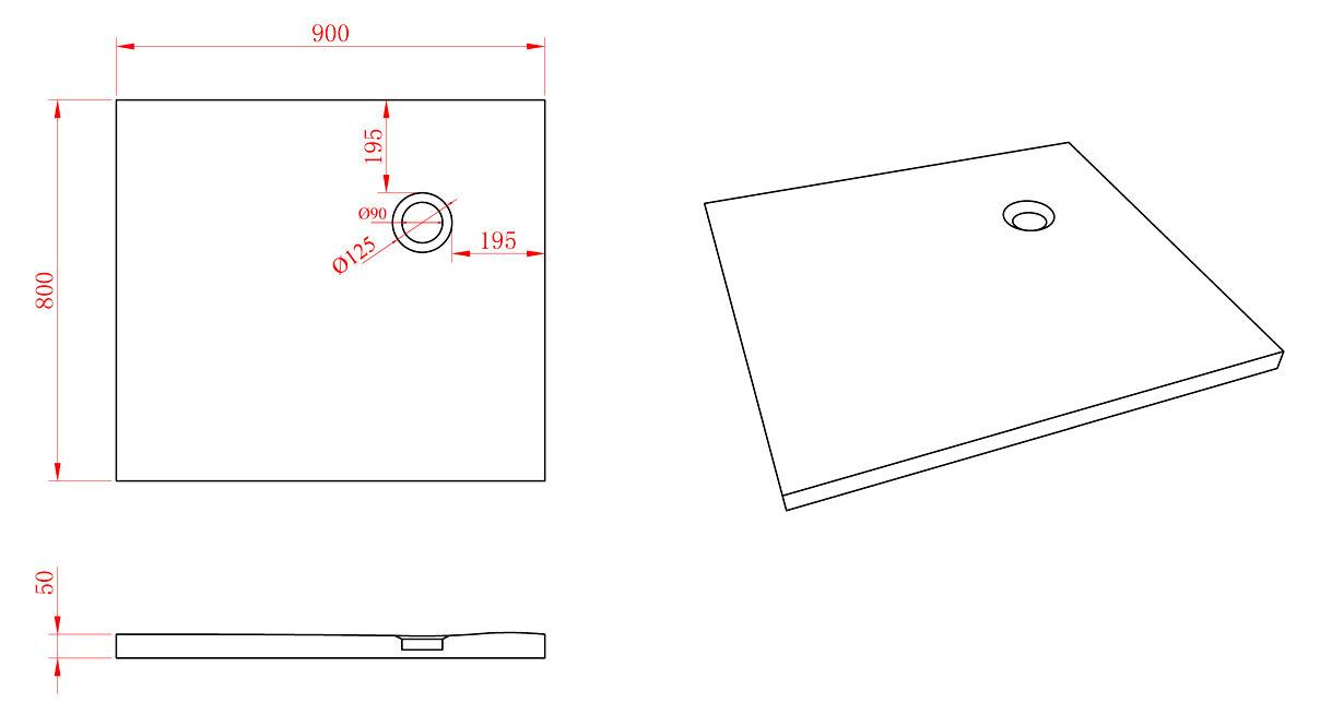 50 mm flache mineralguss duschtasse 80 x 90 cm duschwanne dusche naturstein ebay. Black Bedroom Furniture Sets. Home Design Ideas