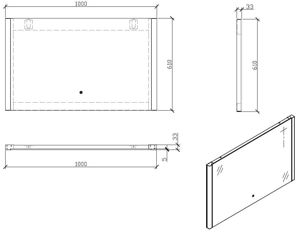 LED Badspiegel LED1-100