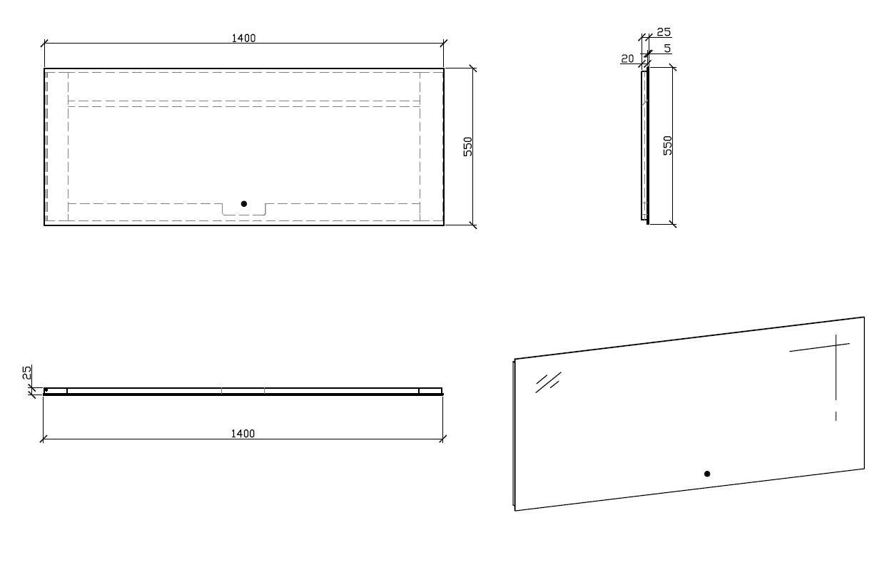 LED Badspiegel LED2-140