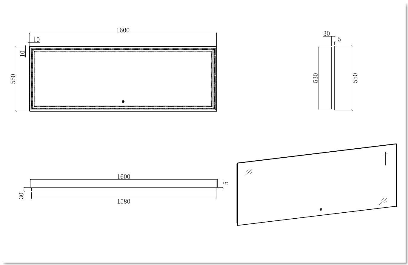 LED Badspiegel LED2-160