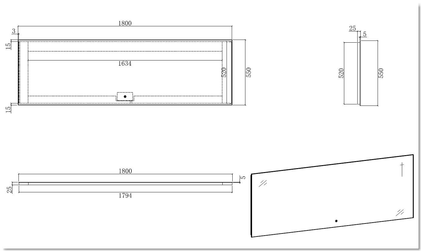 LED Badspiegel LED2-180