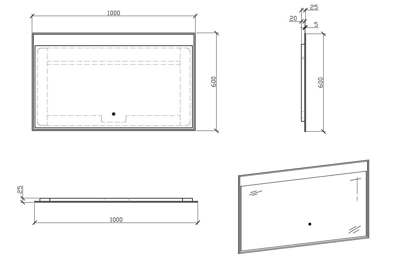 LED Badspiegel LED3-100