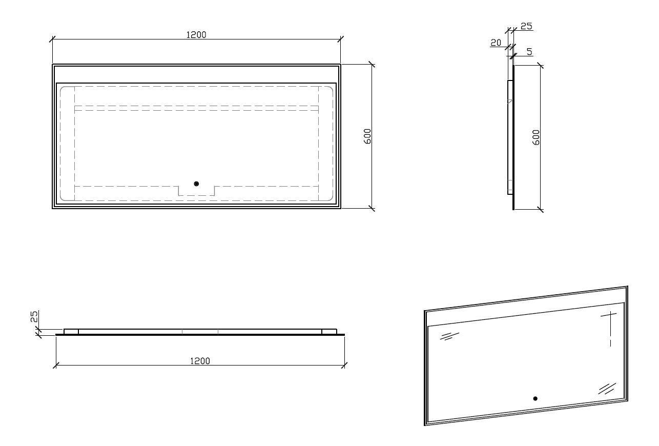 LED Badspiegel LED3-120