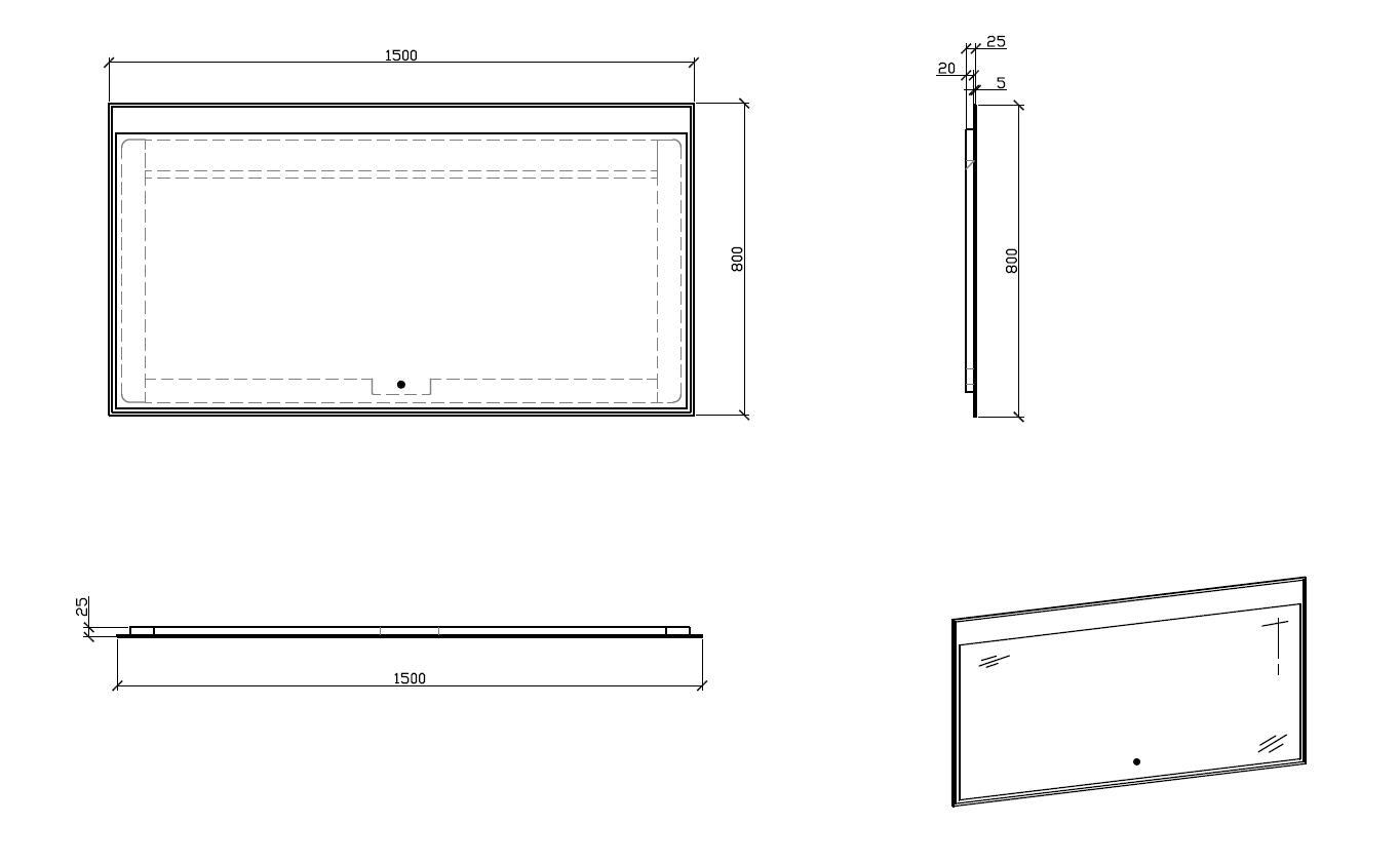 LED Badspiegel LED3-150