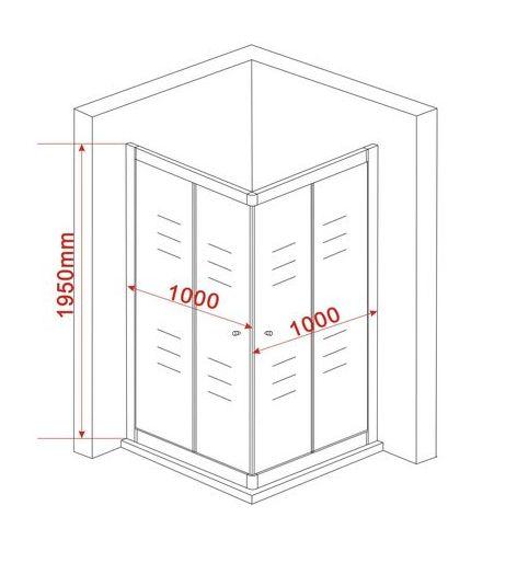 duschkabine scivolo 100 x 100 ohne duschtasse alphabad. Black Bedroom Furniture Sets. Home Design Ideas