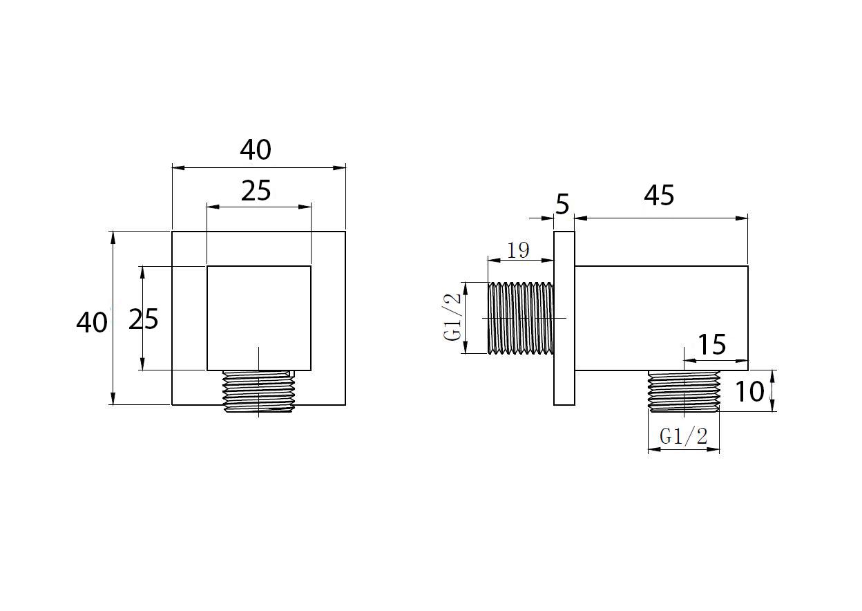 Wandanschlussbogen TT-8333