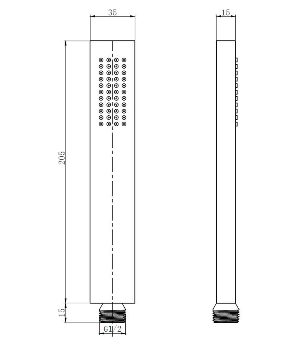 Messing - Handbrause TT-8364