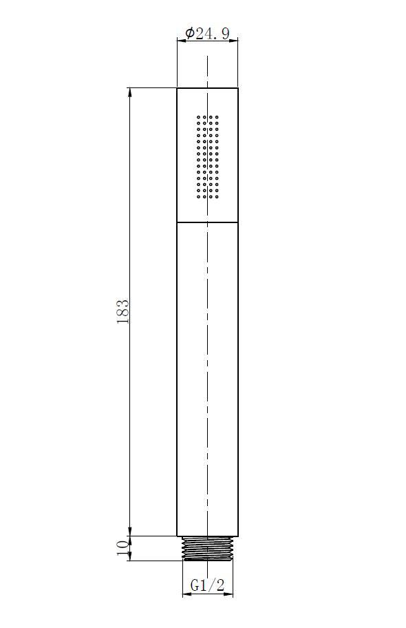 Armatur Handbrause-Set in rund