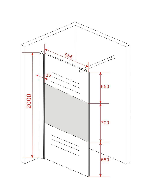 tandare fr duschwand 8mm glas walk in dusche duschkabine. Black Bedroom Furniture Sets. Home Design Ideas