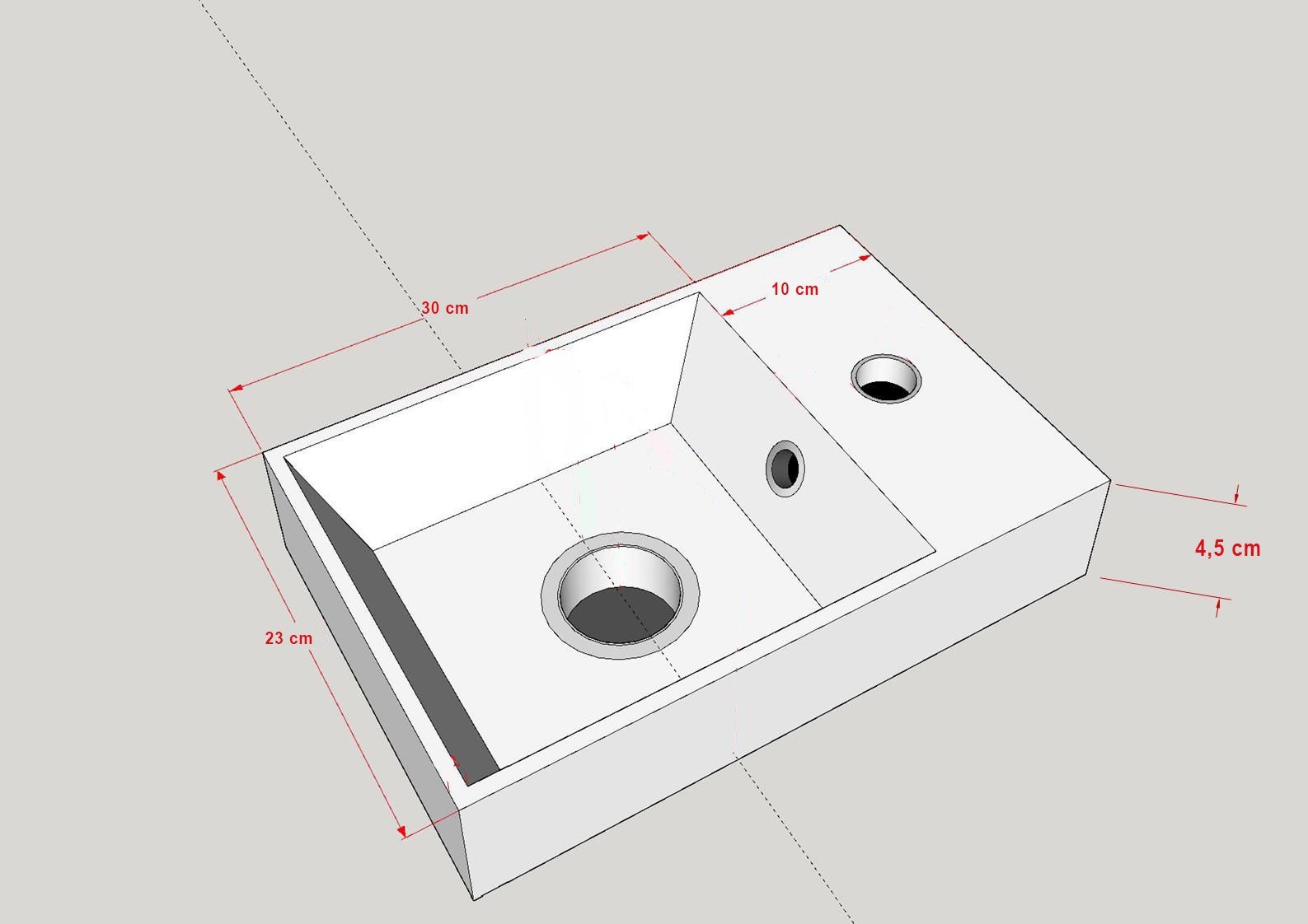 Badmöbel Unterschrank VT40 40 in weiß inkl. Waschtisch