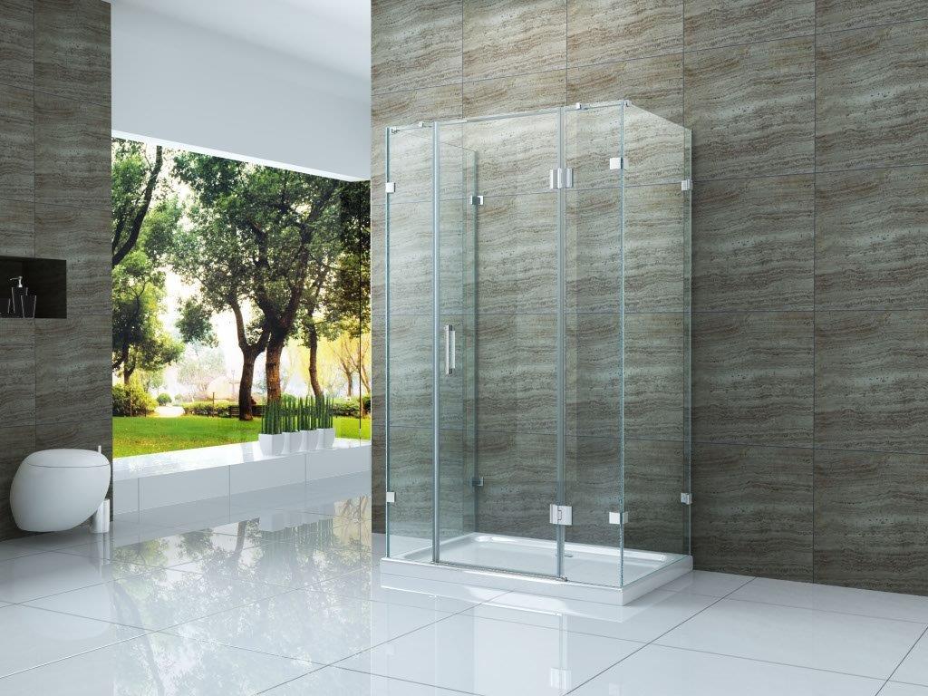 U-Duschkabine PIEZO 120 x 80 x 195 cm ohne Duschtasse