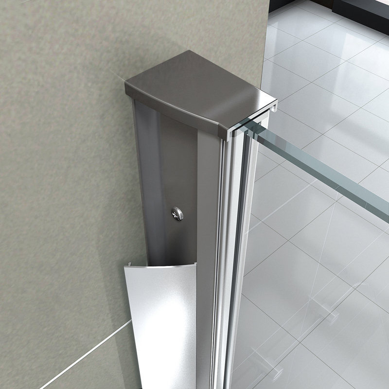 Duschkabine RINCON 90 x 90 x 180 cm ohne Duschtasse