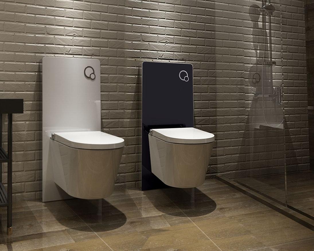 sp lkasten vorwandelement f r wand wc glas sanit rmodul montageelement ebay. Black Bedroom Furniture Sets. Home Design Ideas