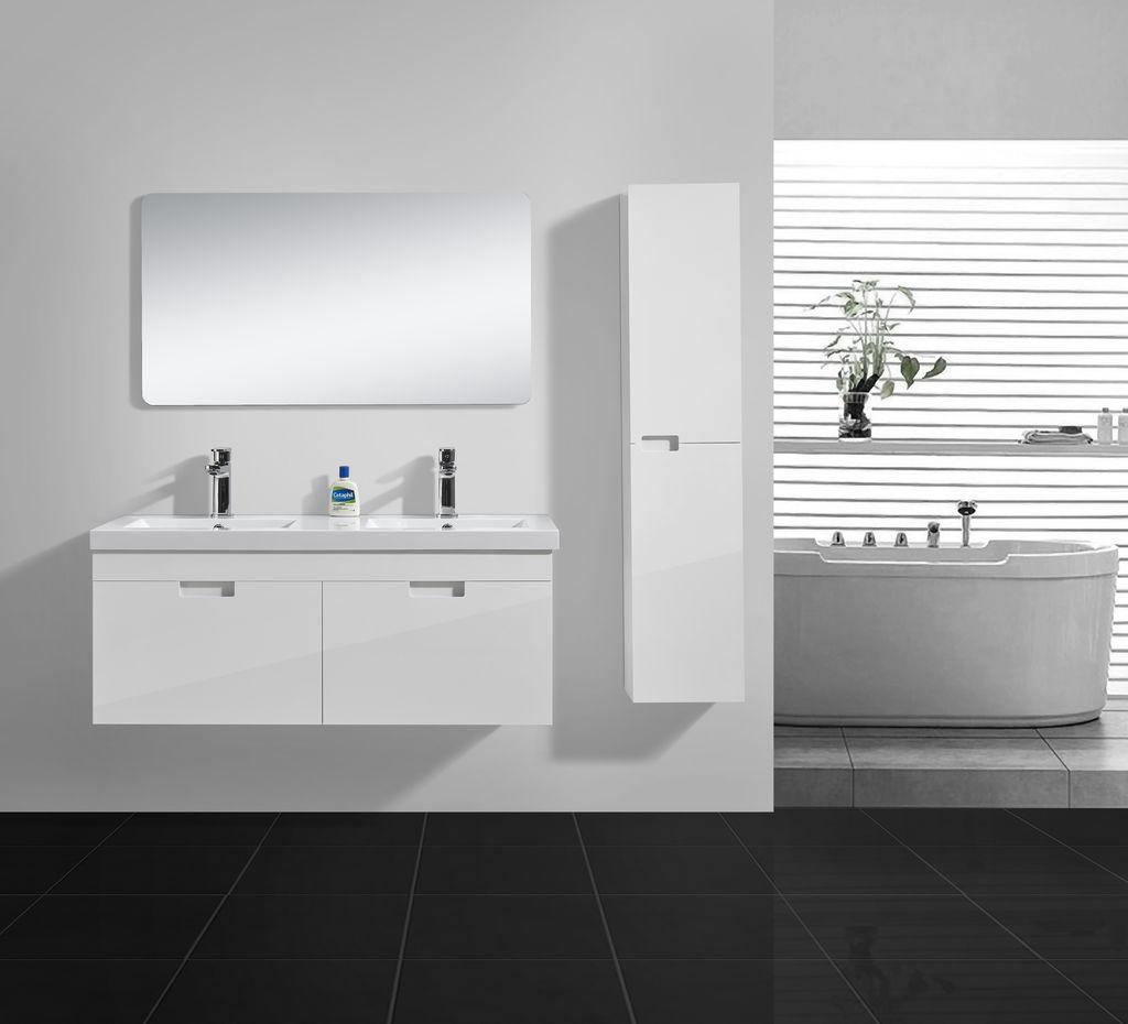 badm bel set shiny 1200 hochglanz wei alphabad. Black Bedroom Furniture Sets. Home Design Ideas