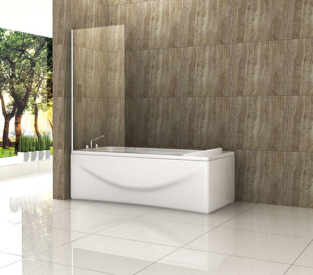 steady 75 x 160 cm badewannen duschwand badewannenaufsatz duschabtrennung ebay. Black Bedroom Furniture Sets. Home Design Ideas
