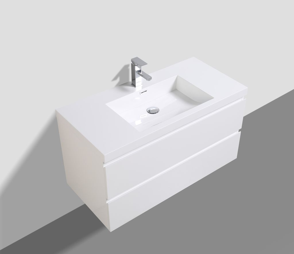 Badmöbel Unterschrank SWIFT 100 (hochglanz-weiß)