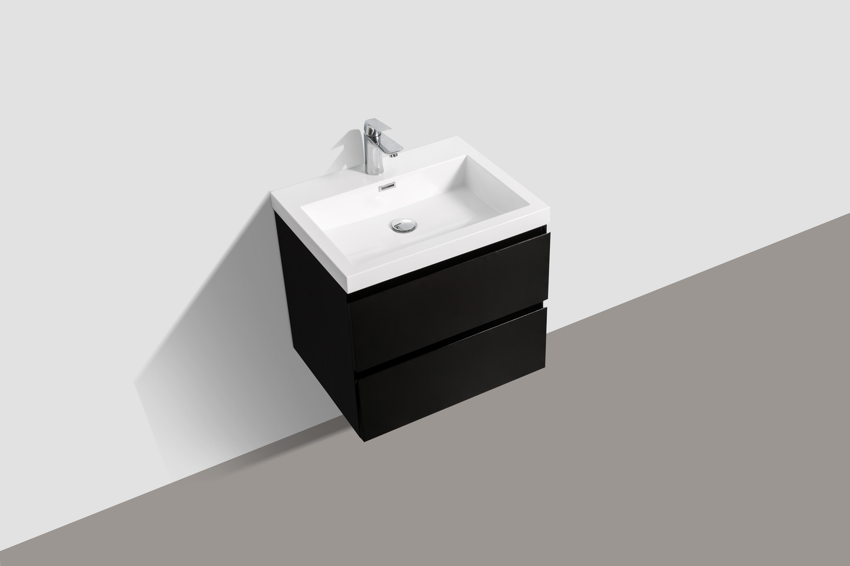 Badmöbel Unterschrank SWIFT 60 (hochglanz-schwarz)