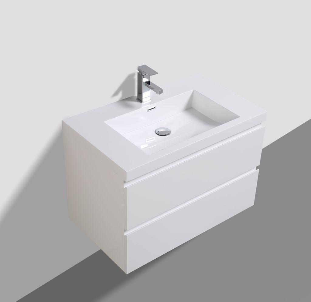 Badmöbel Unterschrank SWIFT 80 (hochglanz-weiß)