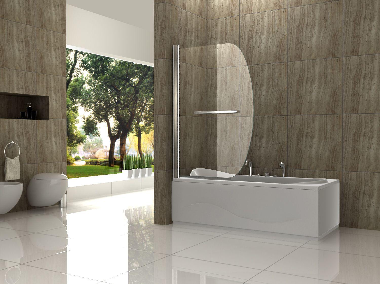 SWING 90 x 140 Badewannen Faltwand Duschwand Badewannenaufsatz ... | {Duschabtrennung glas badewanne 42}