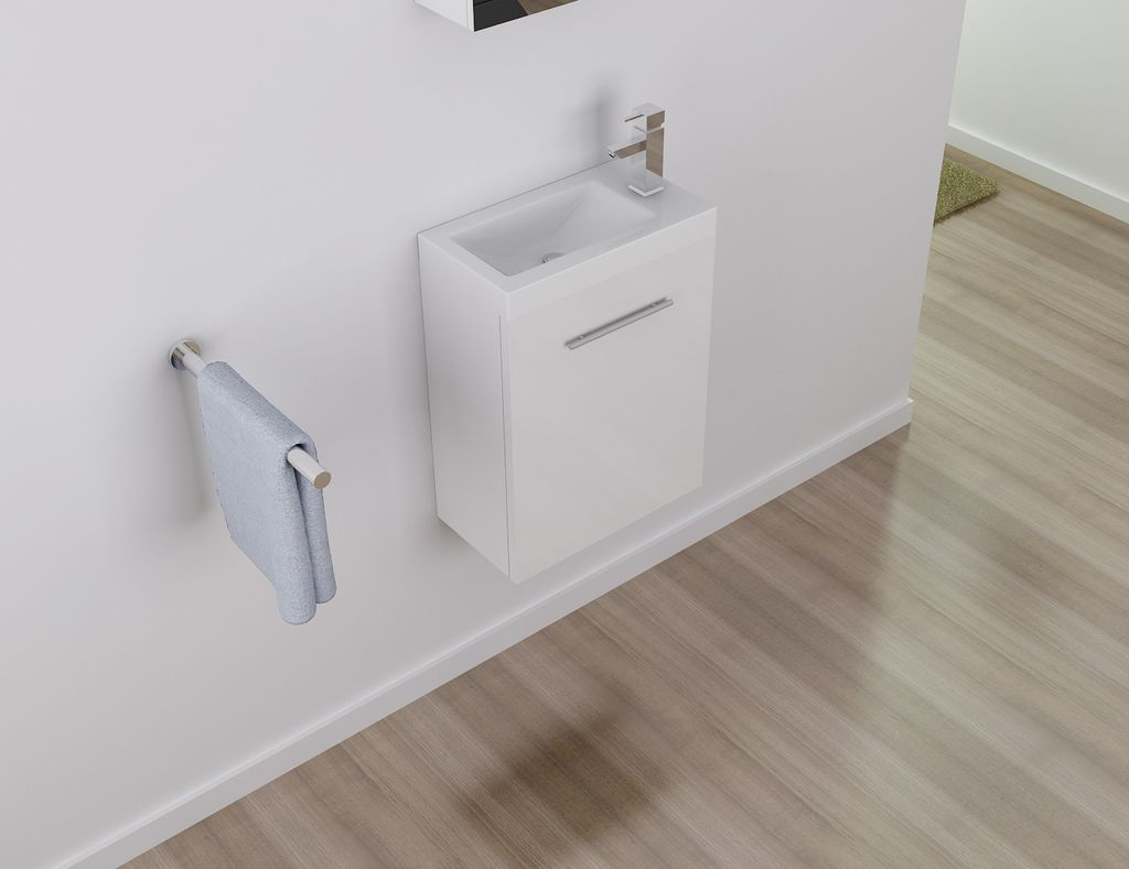 Badmöbel Unterschrank TT001 in weiß inkl. Waschtisch