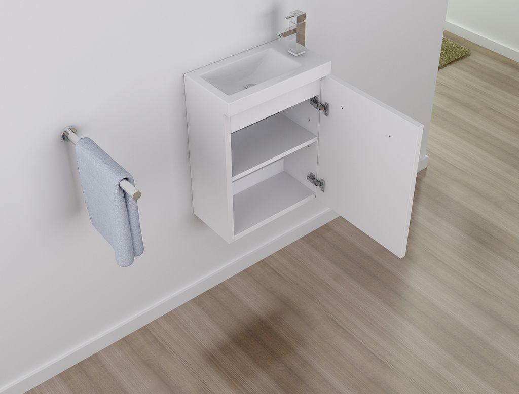 Badmöbel Unterschrank TT001 50 in weiß inkl. Waschtisch