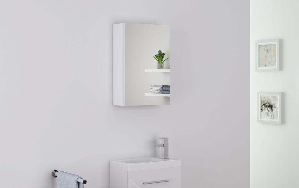 Badmöbel Spiegelschrank TT003 in weiß