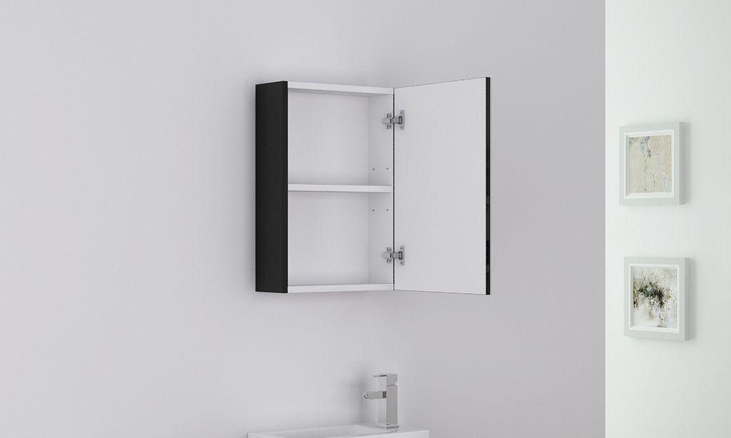 Badm bel spiegelschrank tt006 in schwarz alphabad for Hochwertiger spiegelschrank bad