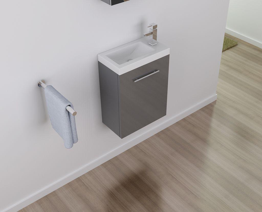 Badmöbel Unterschrank TT007 in grau inkl. Waschtisch