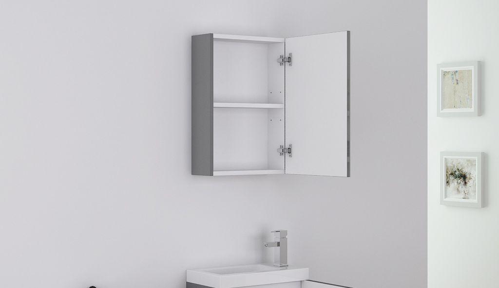 Badmöbel Spiegelschrank TT009 in grau