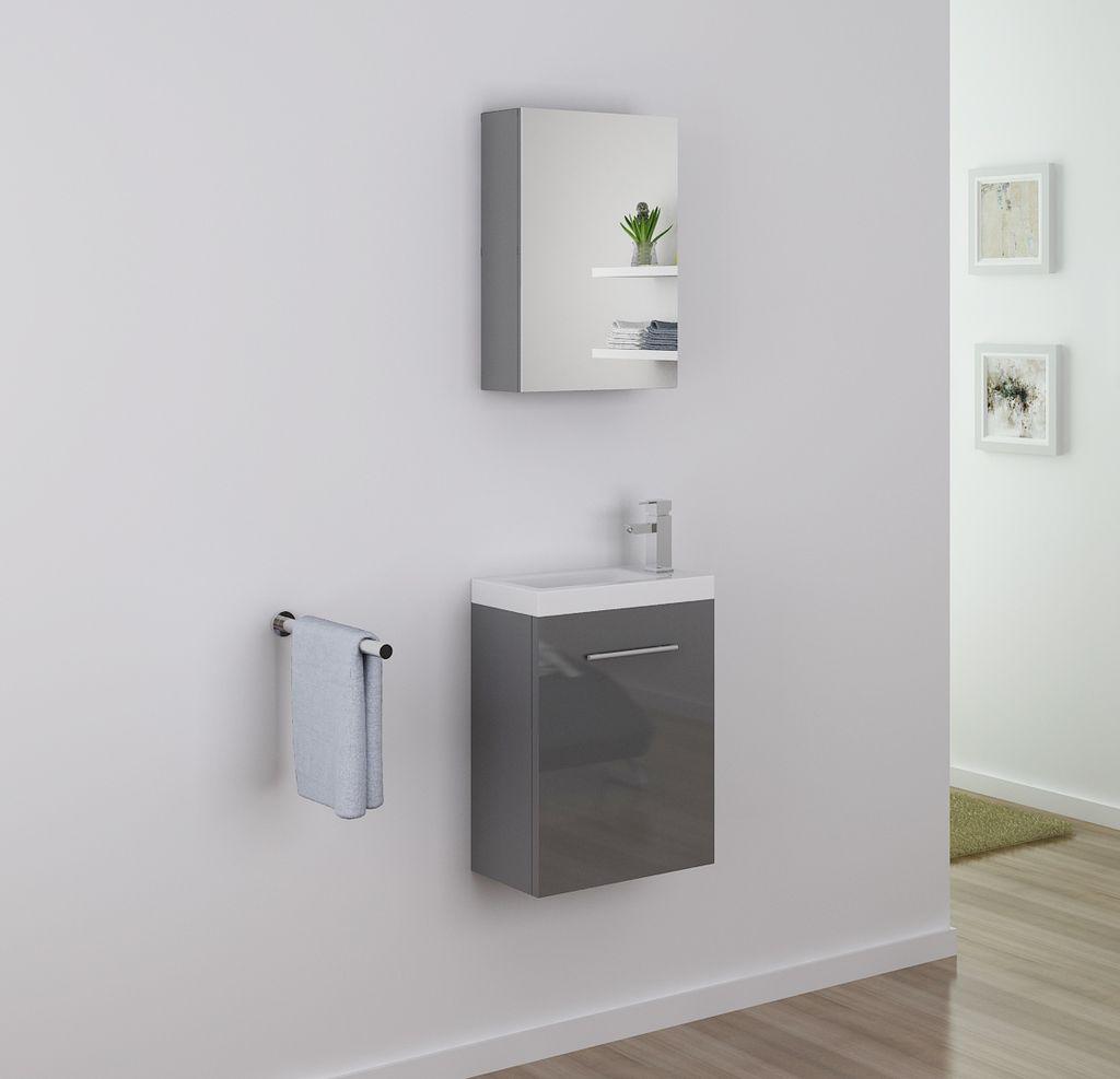 Badm bel spiegelschrank tt009 in grau alphabad for Hochwertiger spiegelschrank bad