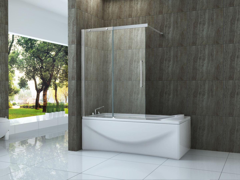 badewannenaufsatz tramo 120x150 schiebet r duschabtrennung badewannen duschwand ebay. Black Bedroom Furniture Sets. Home Design Ideas
