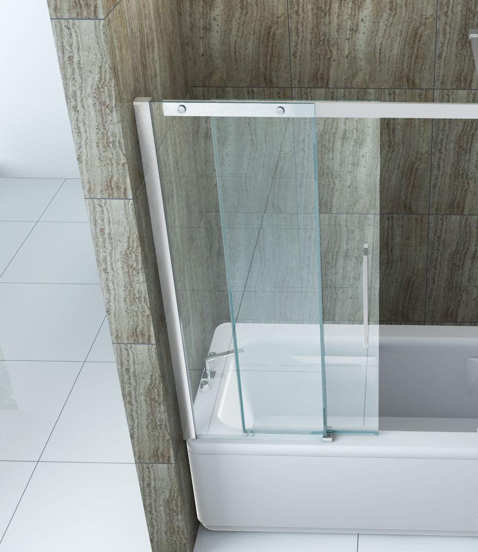 badewannenaufsatz tramo 120x150 schiebet r duschabtrennung badewannen duschwand 4260276028146 ebay. Black Bedroom Furniture Sets. Home Design Ideas