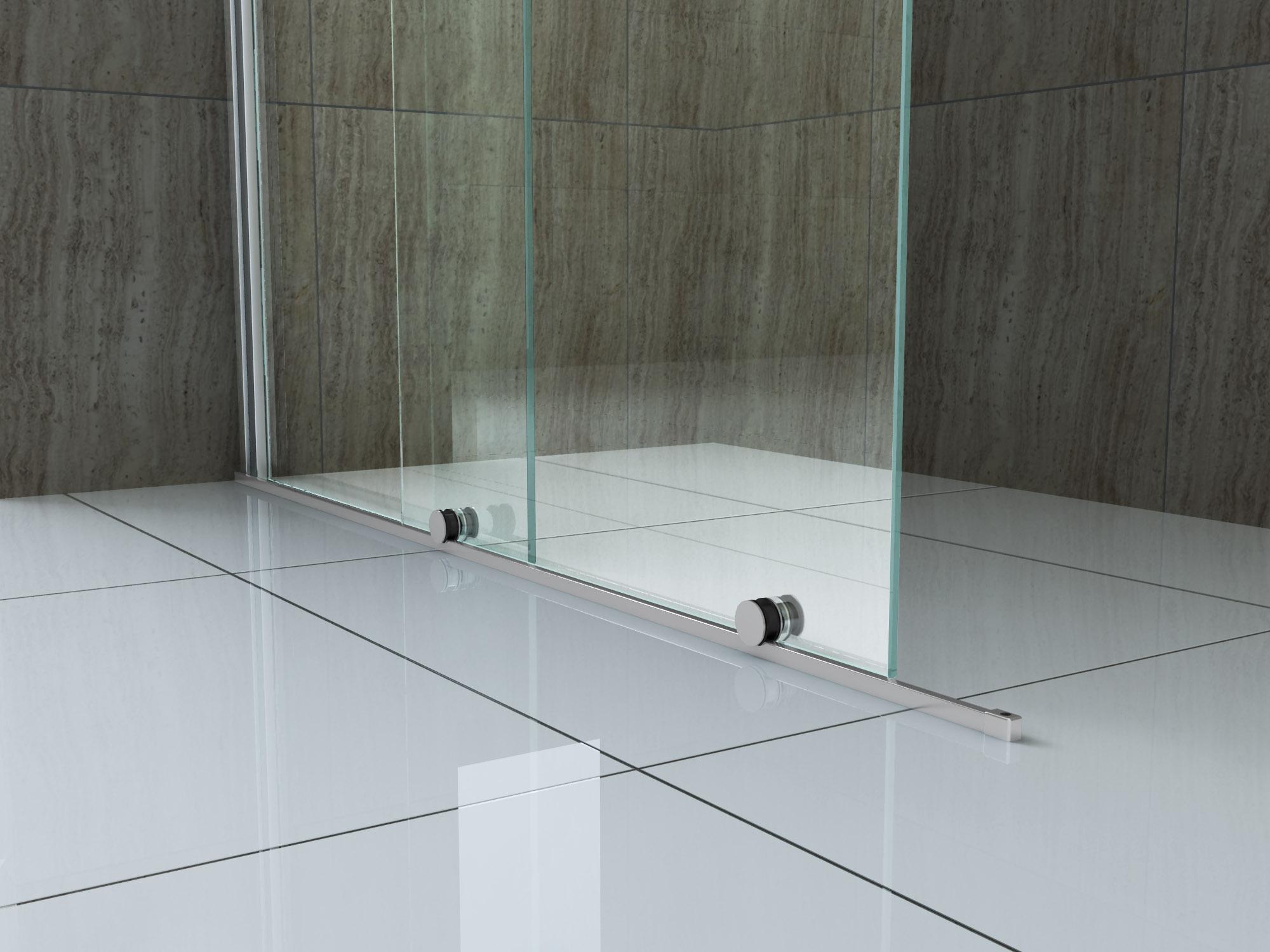 8 mm Schiebetür - Duschwand TUTTO 180 x 200 cm