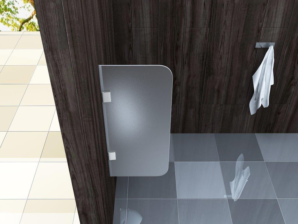 glas urinal trennwand frost 90x40cm schamwand pissoir. Black Bedroom Furniture Sets. Home Design Ideas