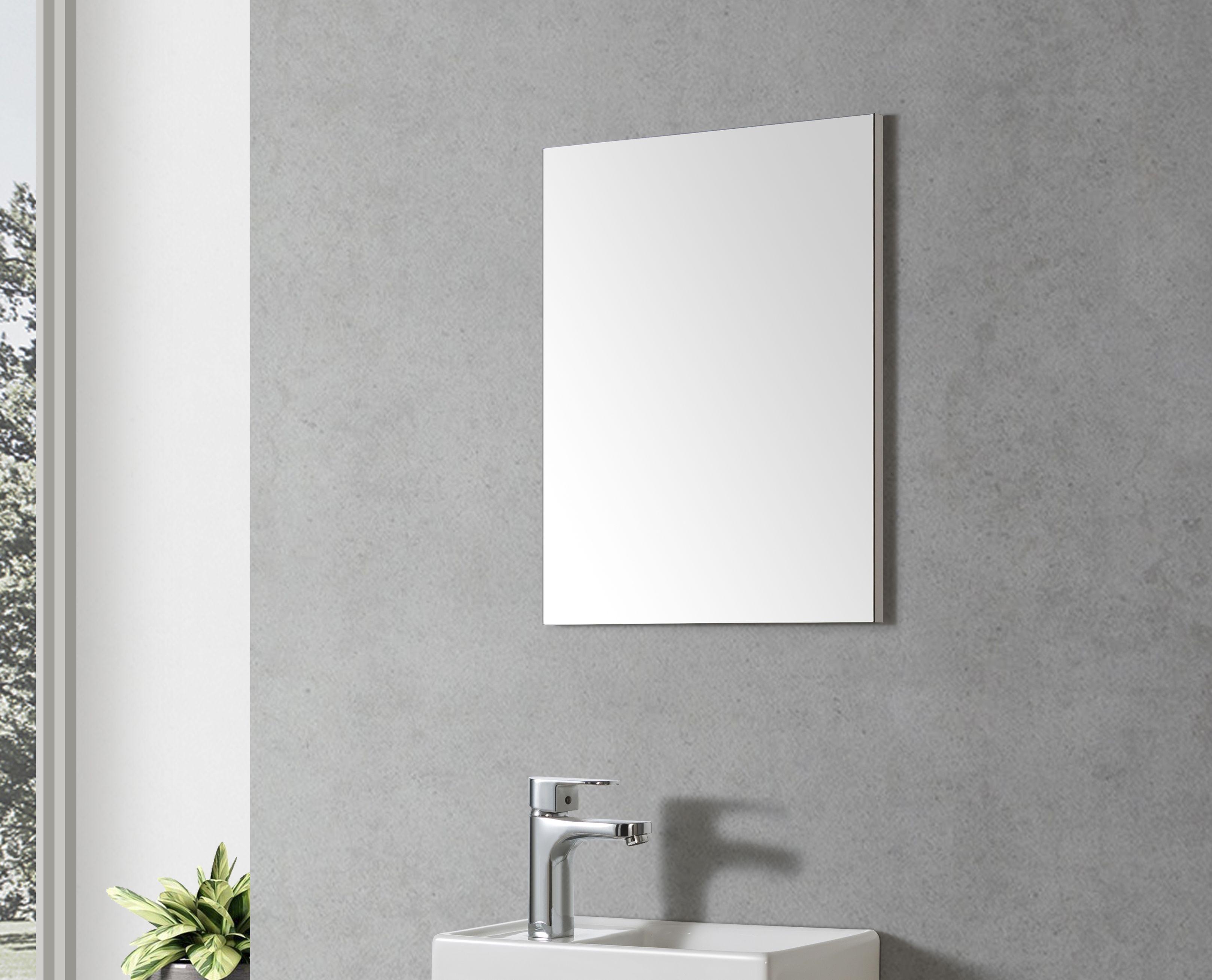 Badmöbel Spiegel VT40 40 (weißer Rahmen)