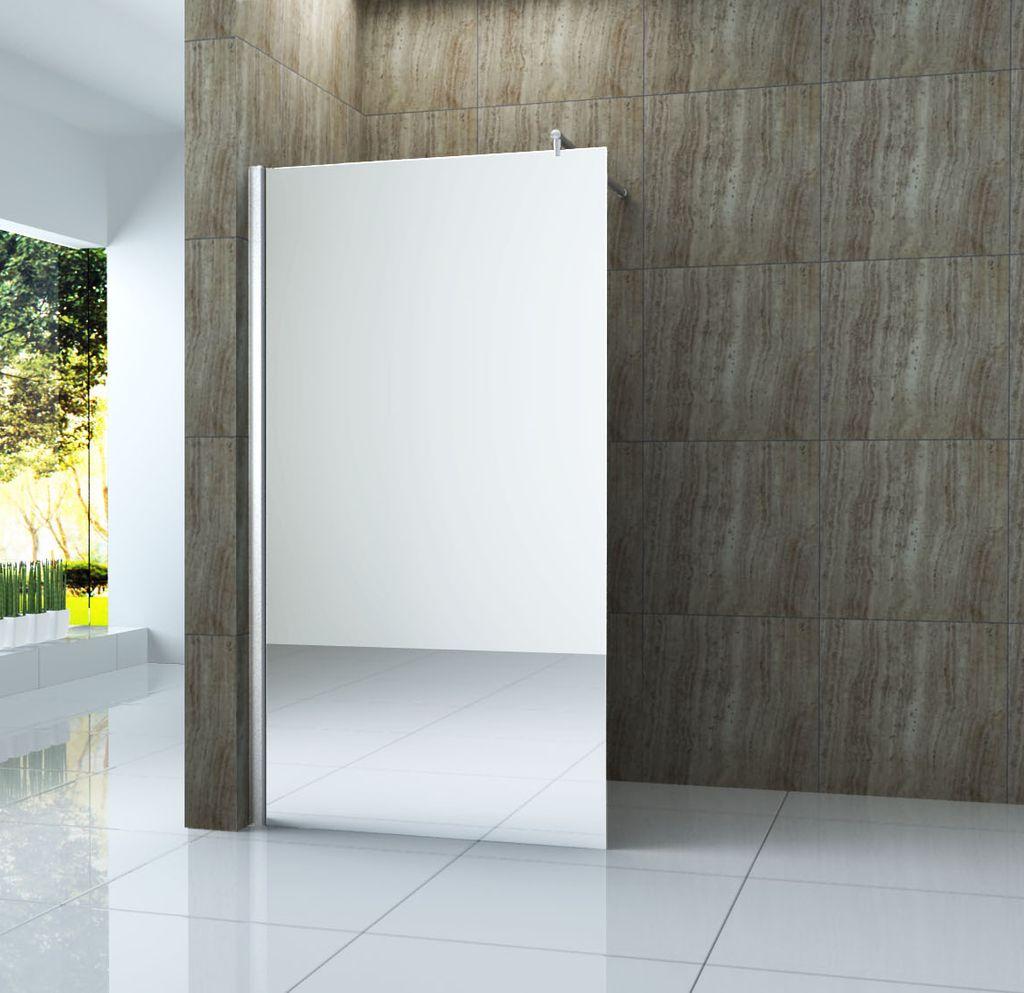 duschwand vacante mr spiegel glas walk in duschabtrennung dusche duschkabine ebay. Black Bedroom Furniture Sets. Home Design Ideas