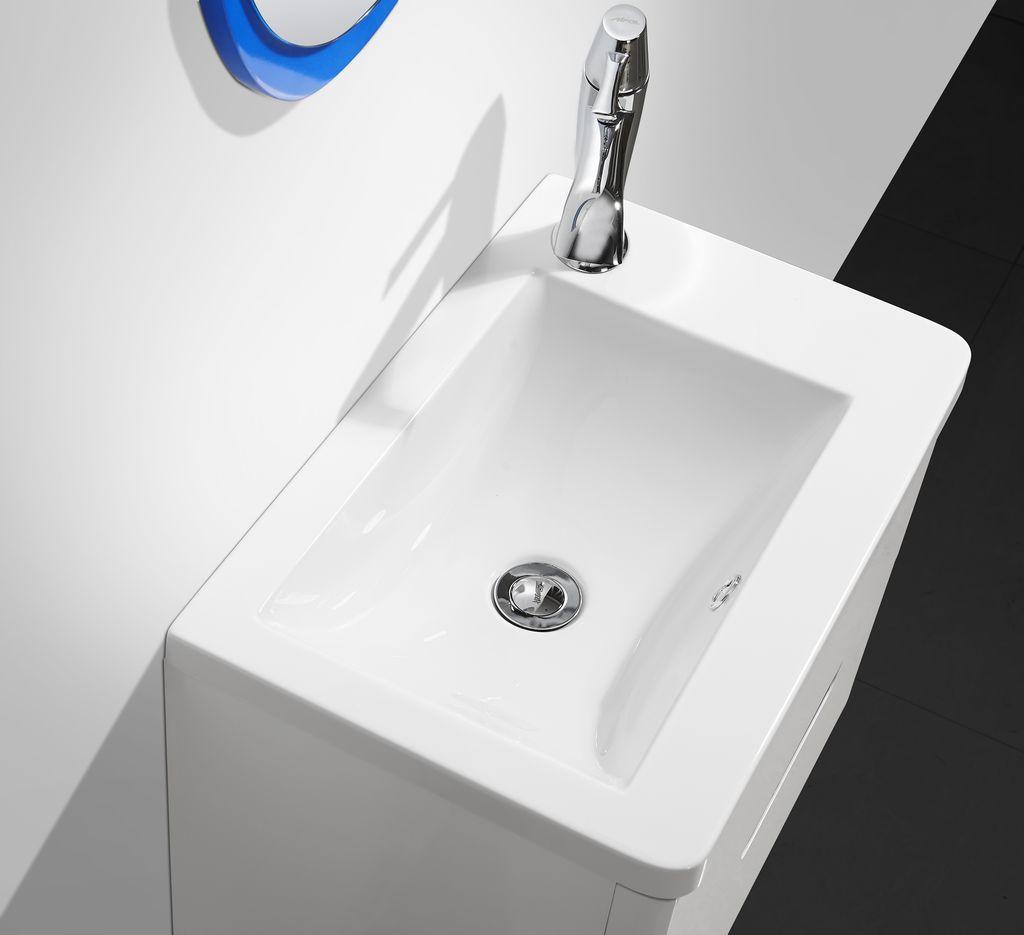 2 tlg badm bel set versico mit wandspiegel badezimmer for Badmobel set blau