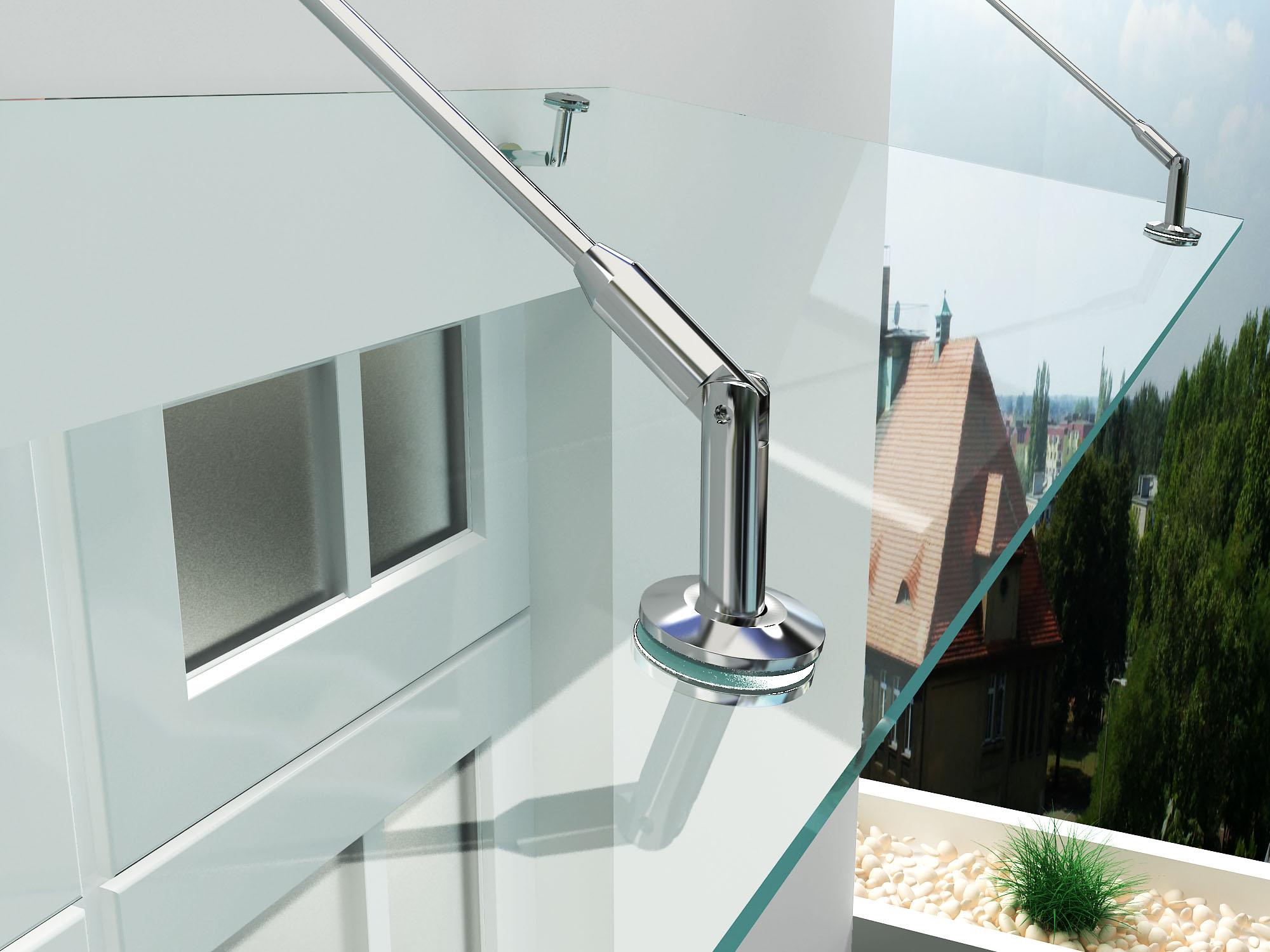 Vordach aus VSG Glas 150/180/200 x 90 cm Modernes Haustür Dach in ...