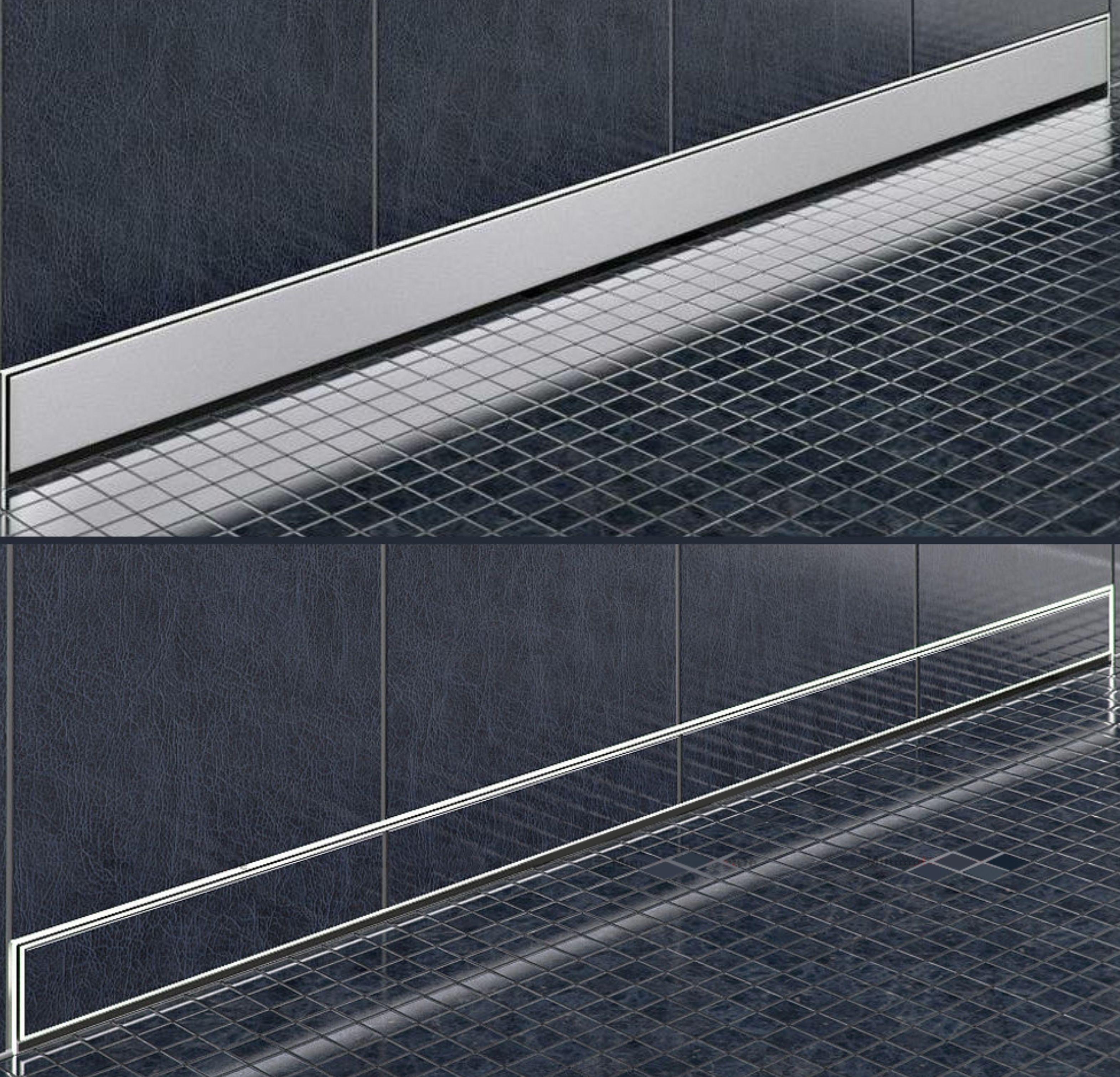 Edelstahl-Duschrinne zur Wandmontage (60 cm)