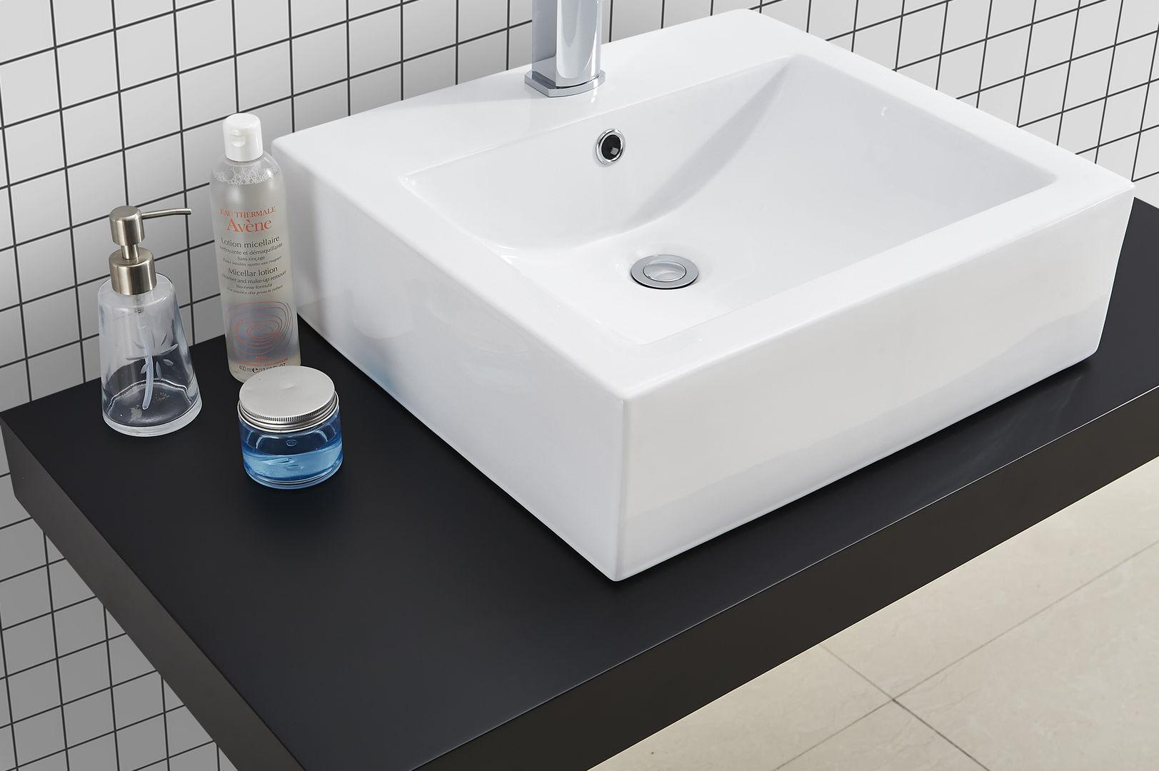 waschtischkonsole schwarz 100 x 50 alphabad. Black Bedroom Furniture Sets. Home Design Ideas