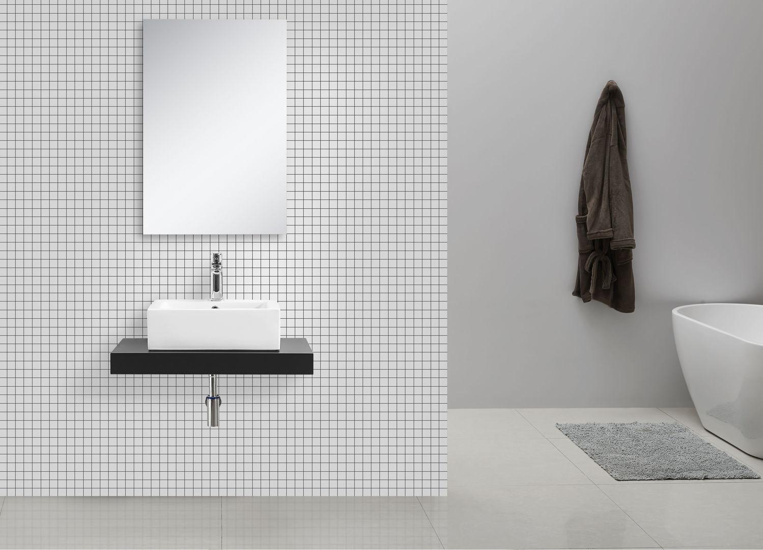 waschtischkonsole schwarz 75 x 50 alphabad. Black Bedroom Furniture Sets. Home Design Ideas