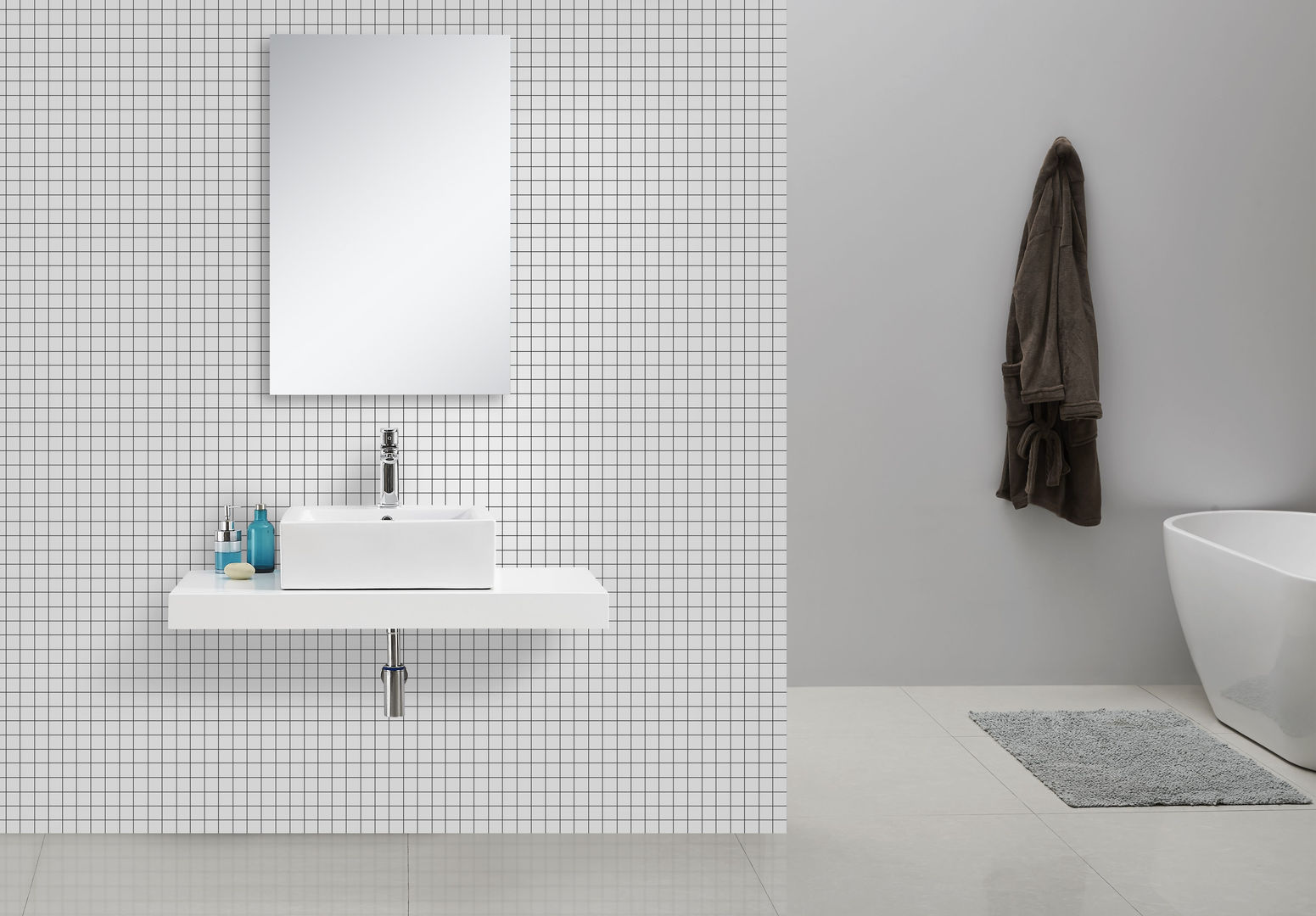 waschtischkonsole weiss 100 x 50 alphabad. Black Bedroom Furniture Sets. Home Design Ideas