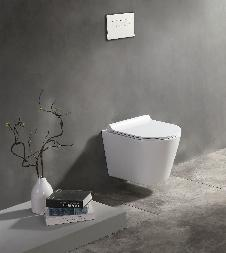 Raumspar-Wand-WC (spülrandlos) inkl. Soft-Close Sitz WHR-586185