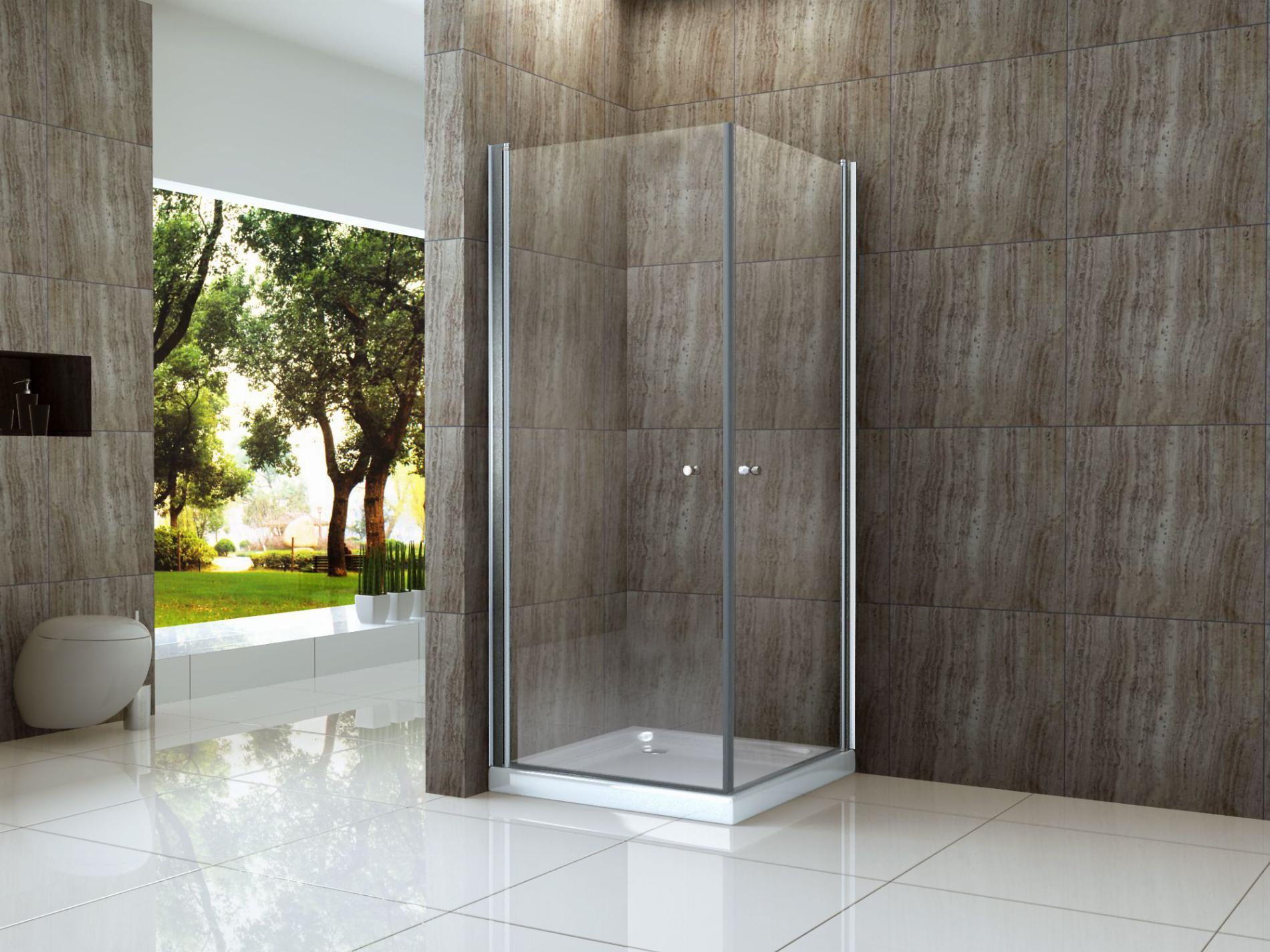 Duschkabine AMBO 80 x 90 cm ohne Duschtasse