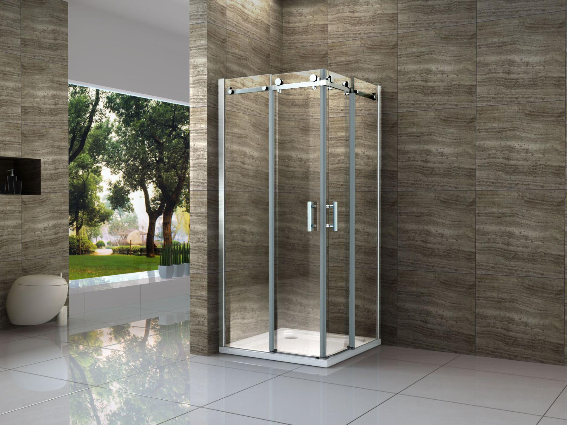 Duschkabine AREA 80 x 90 x 195 cm ohne Duschtasse